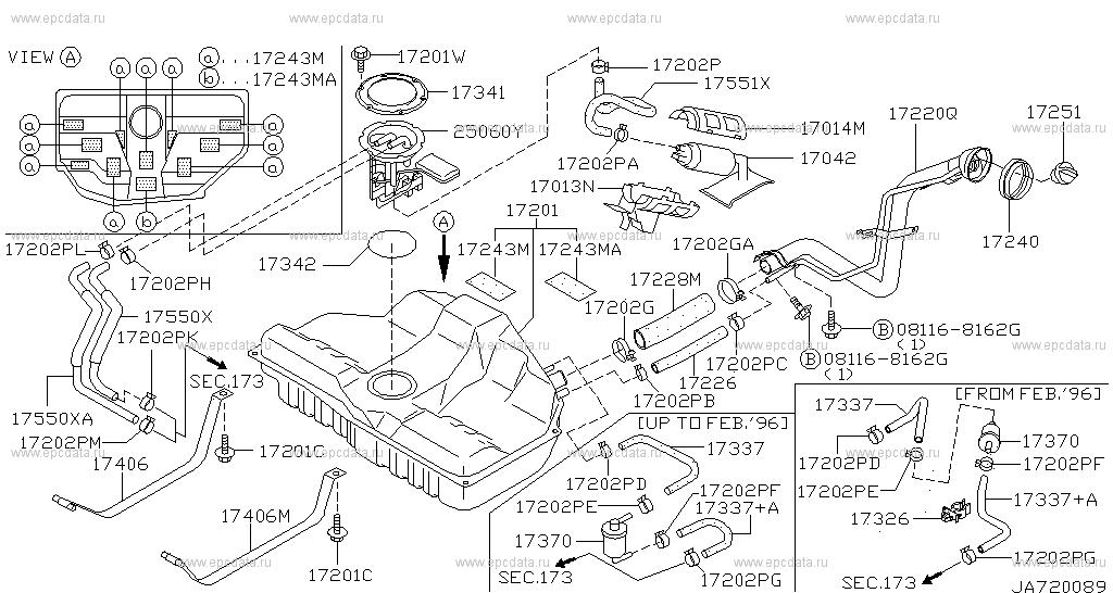 172 - FUEL TANK for Maxima A32 Nissan Maxima - Auto parts