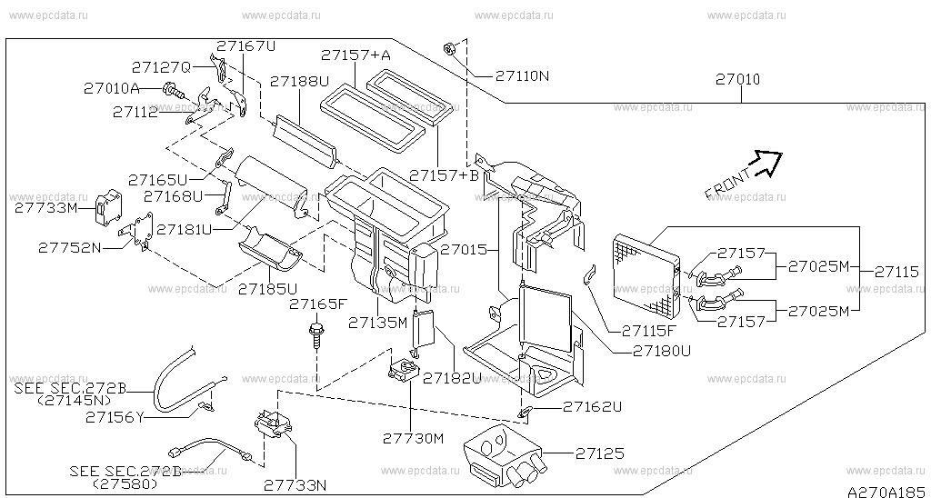 NISSAN OEM Heater-Actuator 2773240U00