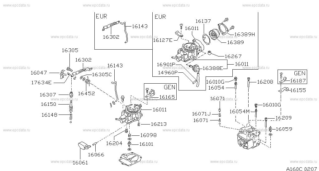 160 carburetor for sunny b11 nissan sunny auto parts rh nissan europe epc data com nissan e15 engine manual 2010 Nissan Maxima Owner's Manual