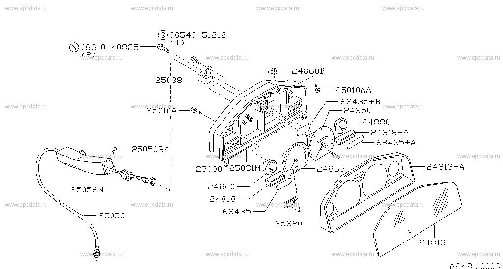 248 Instrument Meter Gauge For 100nx B13 Nissan 100nx Genuine Parts