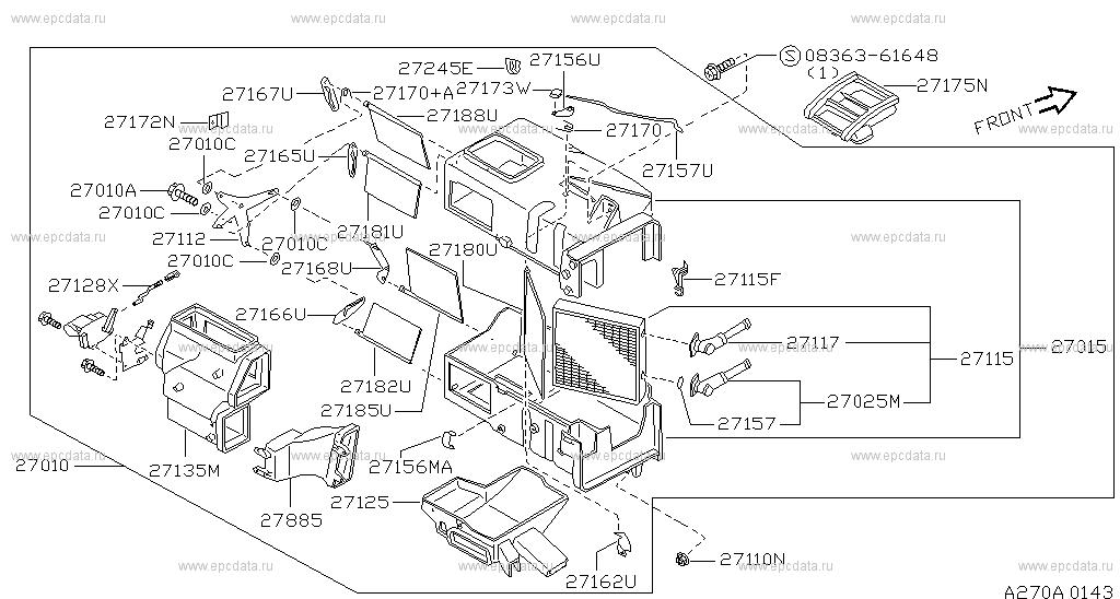 270 Heater Blower Unit For 100nx B13 Nissan 100nx Auto Parts