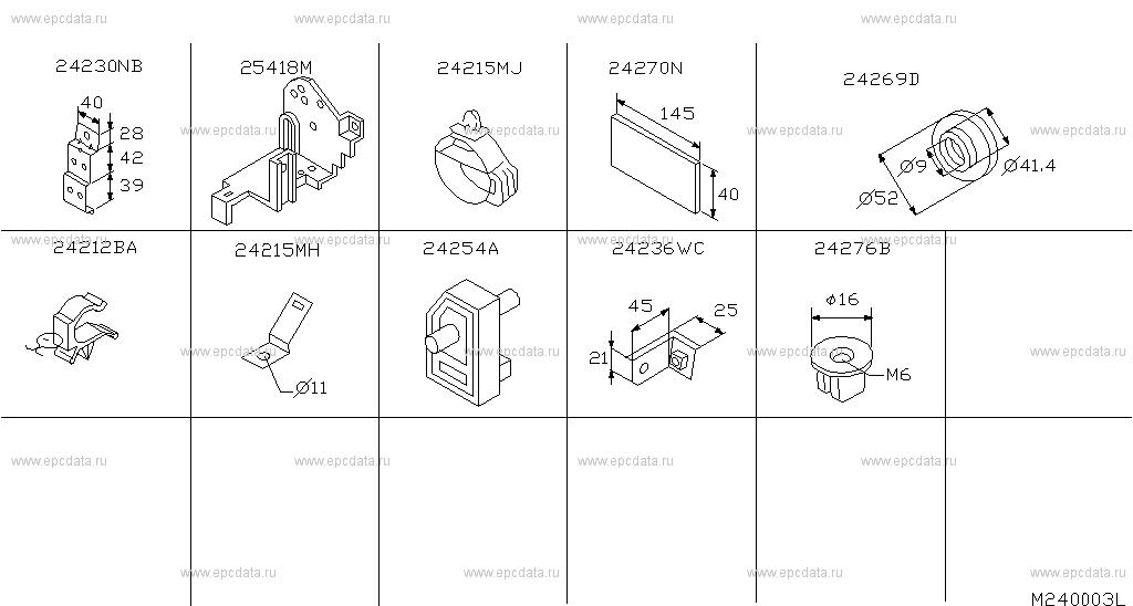 240 - WIRING for Serena C23M Nissan Serena - Auto parts Nissan Largo Wiring Diagram on