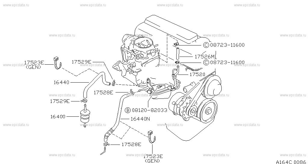 164 - fuel strainer  u0026 fuel hose for king cab d21 nissan king cab