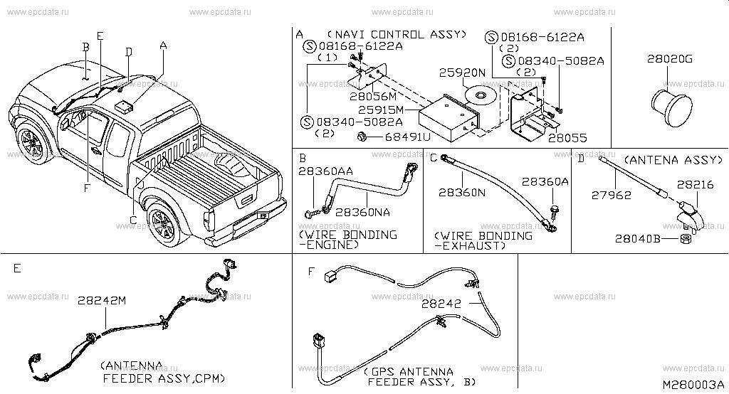 280 - AUDIO & VISUAL for Navara D40M Nissan Navara - Auto parts