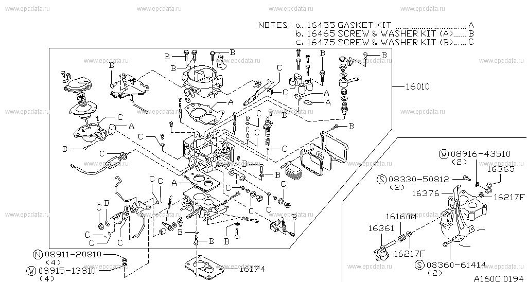160 - carburetor for urvan e23 nissan urvan