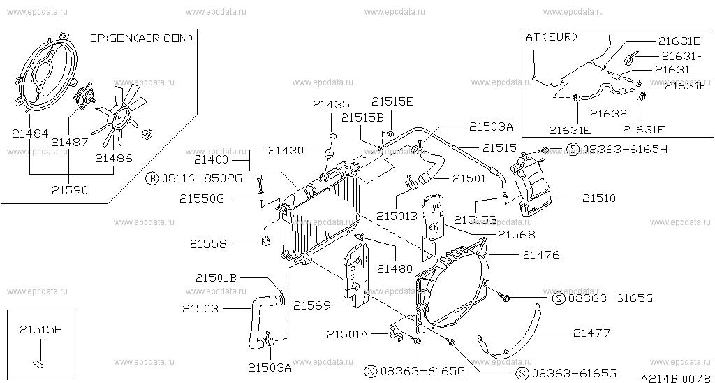 214 radiator, shroud \u0026 fitting for urvan king van e24 nissan Nissan Altima Wiring Diagram scheme 214__b01 scheme 214__b02