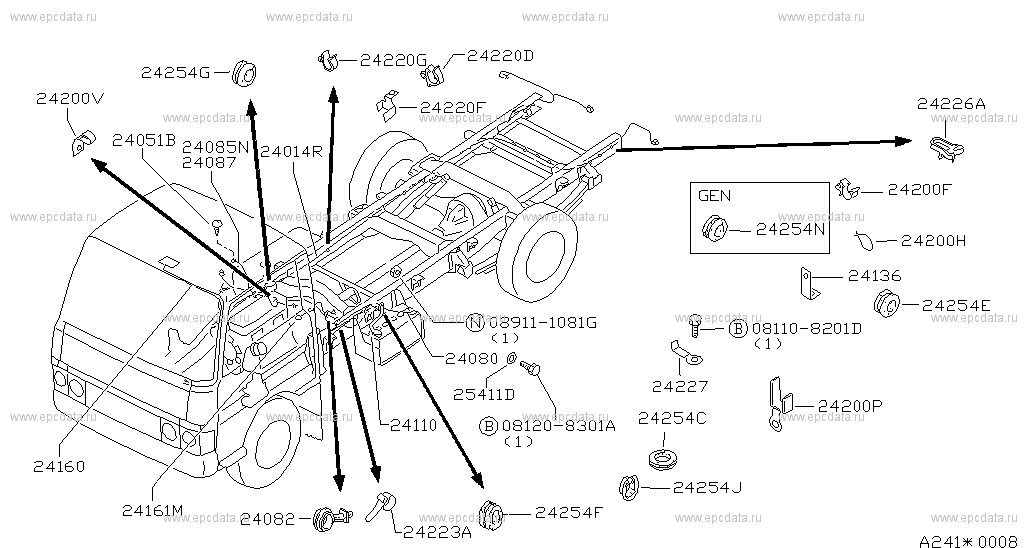 241 - WIRING () for Cabstar F22 Nissan Cabstar - Auto parts Nissan Cabstar Wiring Diagram on