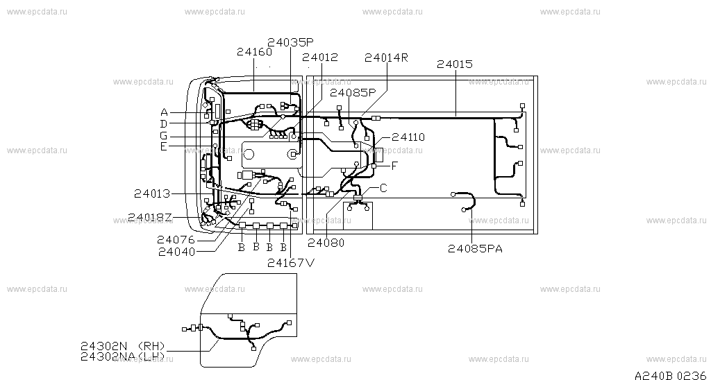240 - WIRING for Cabstar F23 Nissan Cabstar - Genuine parts F Wiring Diagram on