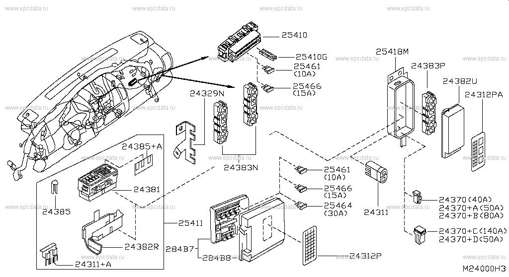 [SODI_2457]   240 - WIRING for Cabstar F24M Nissan Cabstar - Auto parts   Cabstar Fuse Box      Nissan parts catalog