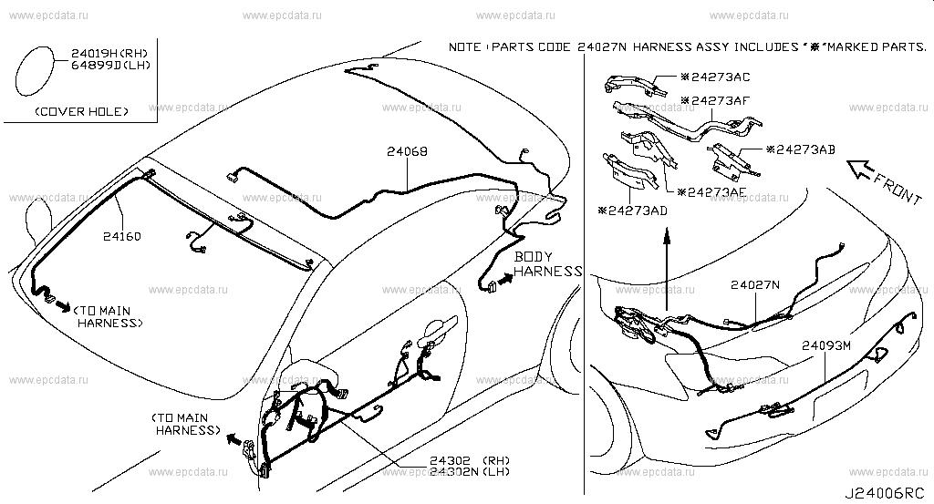 Scheme 240a001 240a002 240a003: Infiniti G37 Oem Parts Diagram At Scrins.org
