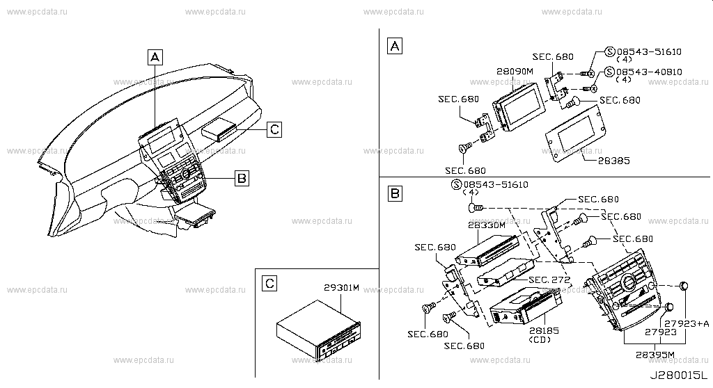280 - AUDIO & VISUAL for Teana J31 Nissan Teana - Auto parts Nissan Teana Wiring Diagram on nissan ignition resistor, nissan fuel pump, nissan diesel conversion, nissan transaxle, nissan schematic diagram, nissan repair diagrams, nissan electrical diagrams, nissan suspension diagram, nissan repair guide, nissan main fuse, nissan fuel system diagram, nissan radiator diagram, nissan distributor diagram, nissan ignition key, nissan brakes diagram, nissan chassis diagram, nissan engine diagram, nissan battery diagram, nissan wire harness diagram, nissan body diagram,