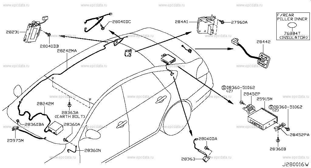 280 Audio Amp Visual For Teana J32 Nissan Teana Auto Parts