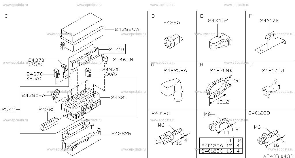 240 - Wiring For Almera N15 Nissan Almera