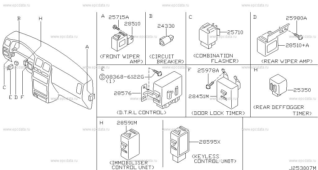 253 electrical unit for almera n15 nissan almera auto parts Supermax Wiring Diagram