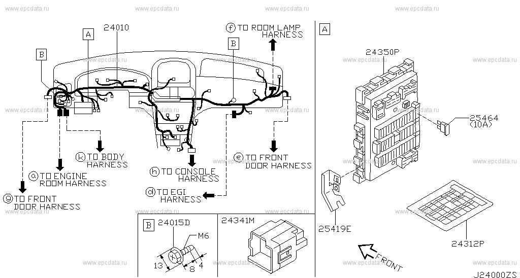 240 - WIRING for Almera N16 Nissan Almera - Genuine parts Nissan Almera Wiring Harness on nissan brakes, nissan fuel pump, nissan fuse, nissan radiator, nissan headlights, nissan lights, nissan timing belt, nissan transformer, nissan speedometer, nissan starter, nissan oil filter, nissan throttle body, nissan water pump, nissan body harness, nissan alternator, nissan ecu, nissan engine, nissan timing chain, nissan radio harness, nissan exhaust,