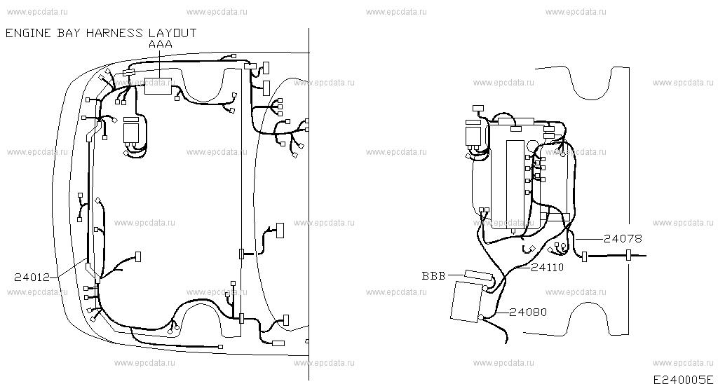 240 - WIRING for Almera N16E Nissan Almera - Genuine parts Qg De Engine Wiring Diagram on