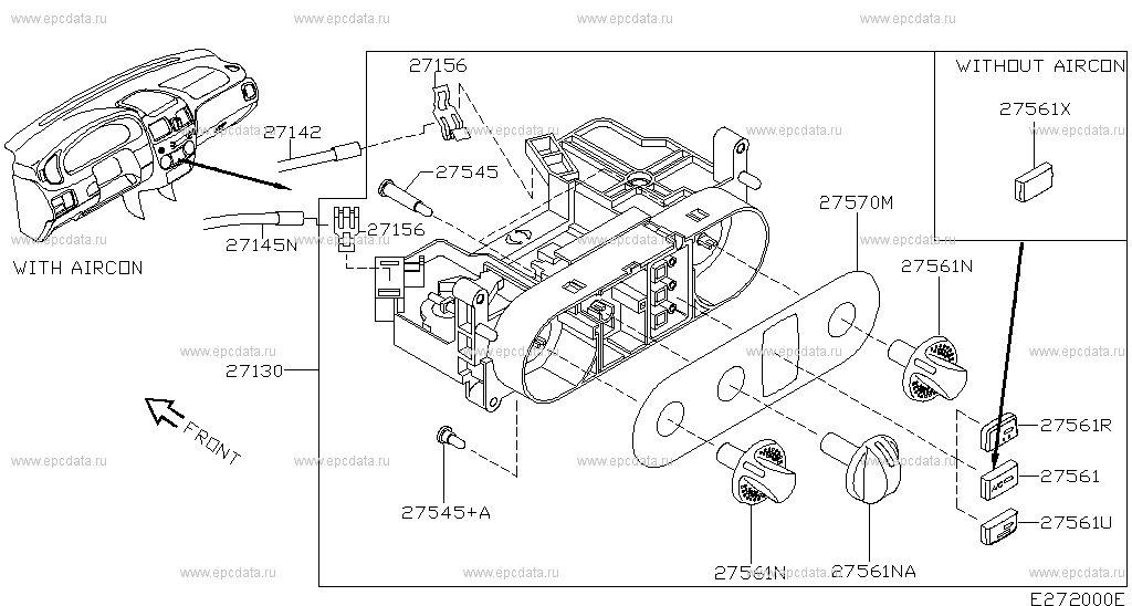 272 - CONTROL UNIT for Almera N16E Nissan Almera - Auto parts Nissan Almera Heater Wiring Diagram on