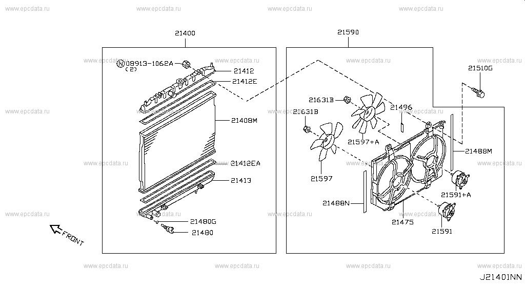 Nissan Radiator Diagram - Wiring Diagrams List on