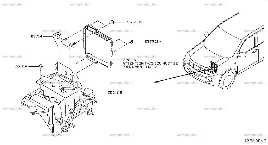 226  ENGINE CONTROL MODULE for    X      Trail       T31    Nissan    X      Trail     Auto parts
