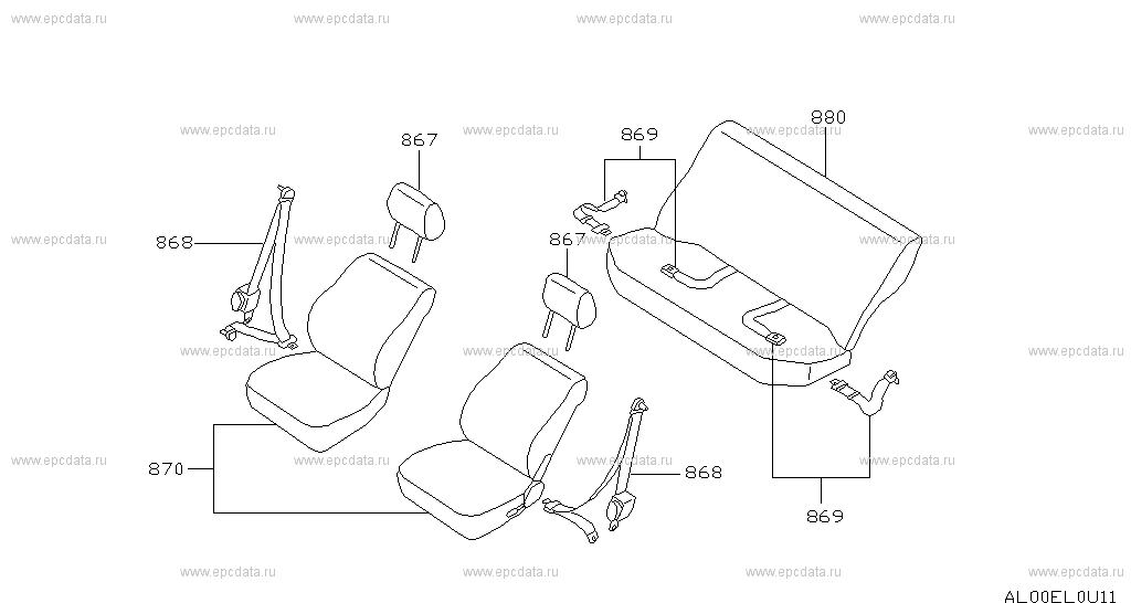 Seat & seat belt