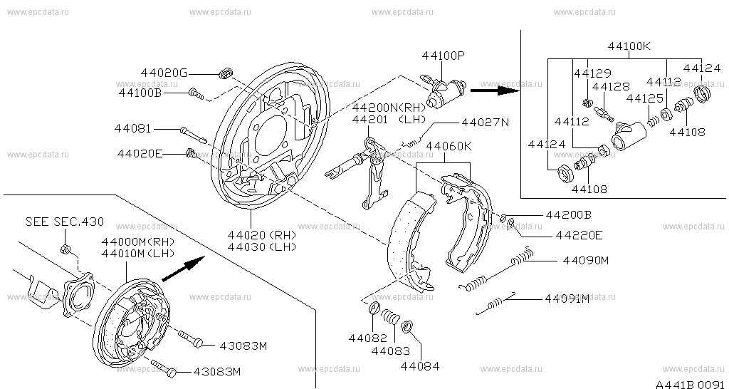 WHEEL CYLINDER FOR NISSAN TERRANO II 2.4 2.7 3.0 TDI 4WD 113KW 154PS