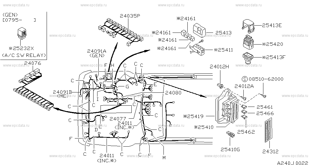 nissan patrol y60 wiring diagram 240    wiring    for    patrol       y60       nissan       patrol    genuine parts  240    wiring    for    patrol       y60       nissan       patrol    genuine parts