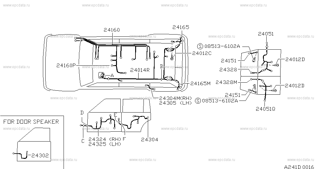 wiring harness nissan patrol wiring diagram sort241 wiring (body) for patrol y60 nissan patrol