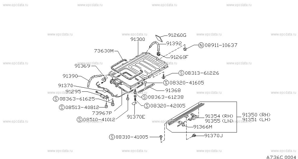 736 sun roof parts for patrol y60 nissan patrol. Black Bedroom Furniture Sets. Home Design Ideas
