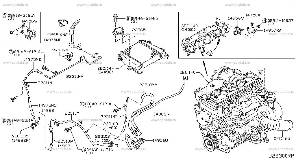 223 - VACUUM PIPING for Patrol Y61 Nissan Patrol - Auto parts