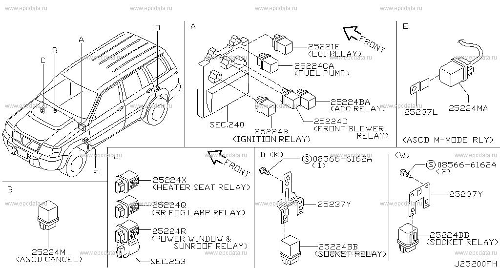 252 - Relay For Patrol Y61 Nissan Patrol