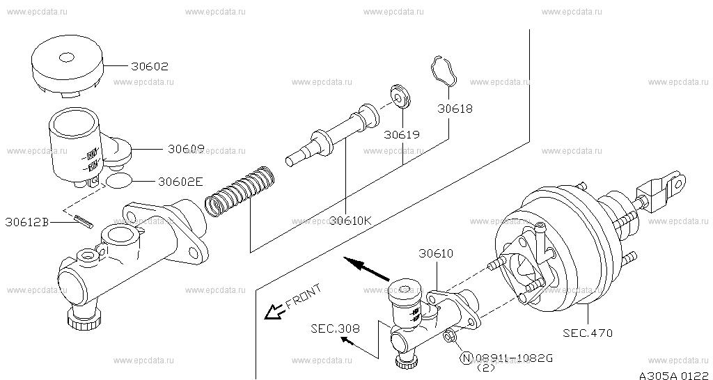 Nissan Master Cylinder Diagram