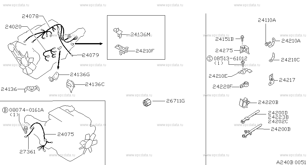 Scheme 240b01 240b02: Z31 Engine Wiring Harness At Gundyle.co