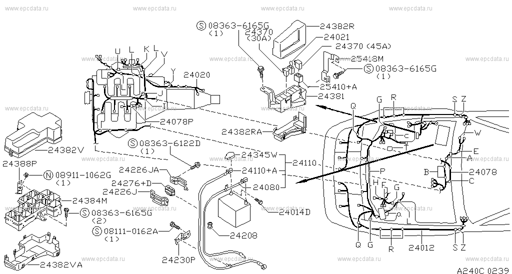 240 - wiring for 300zx z32 nissan 300zx - auto parts  240 - wiring for 300zx z32 nissan 300zx - auto parts