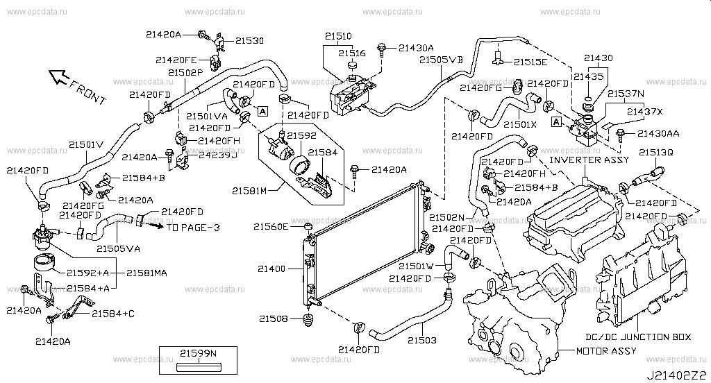 214 - radiator, shroud & fitting for leaf ze0 nissan leaf - auto parts  214 - radiator, shroud & fitting for leaf ze0 nissan leaf - auto parts